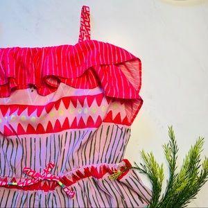 Cat & Jack Girls' Geometric Maxi Dress Sz L EUC